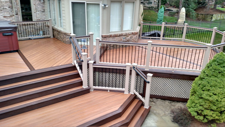 Services deck cleaning michigan deck repair michigan for Best composite decking brand 2016